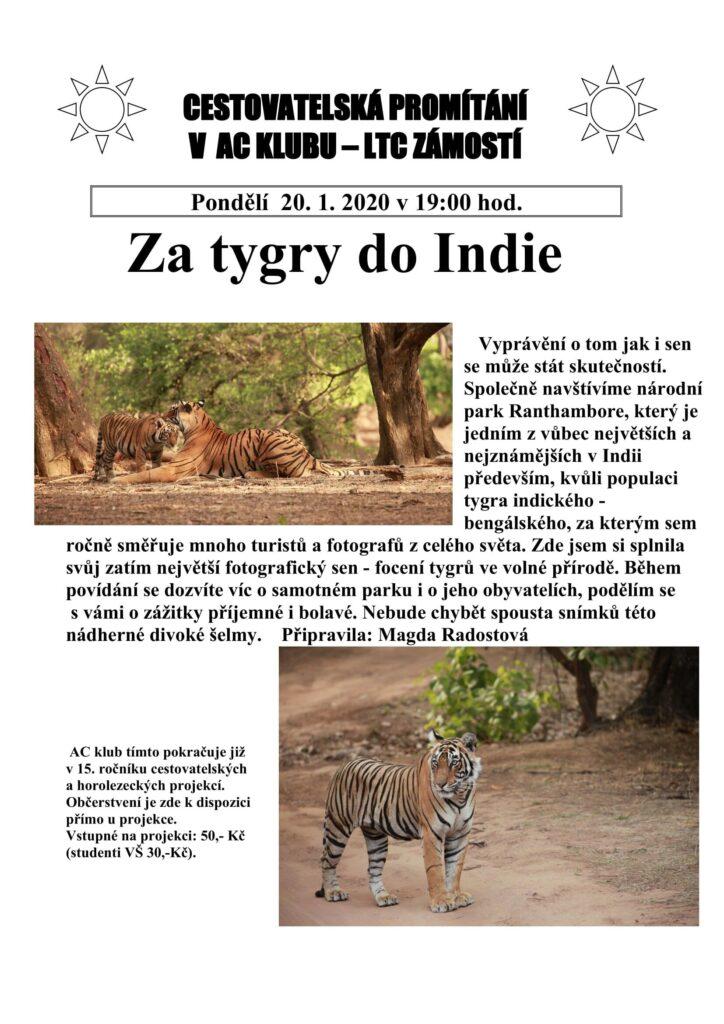 Za tygry do Indie